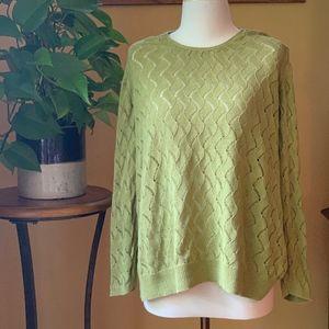 J Jill crochet detailed sweater. XL
